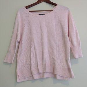 ✨American Eagle light pink 3/4 sleeve sweater med
